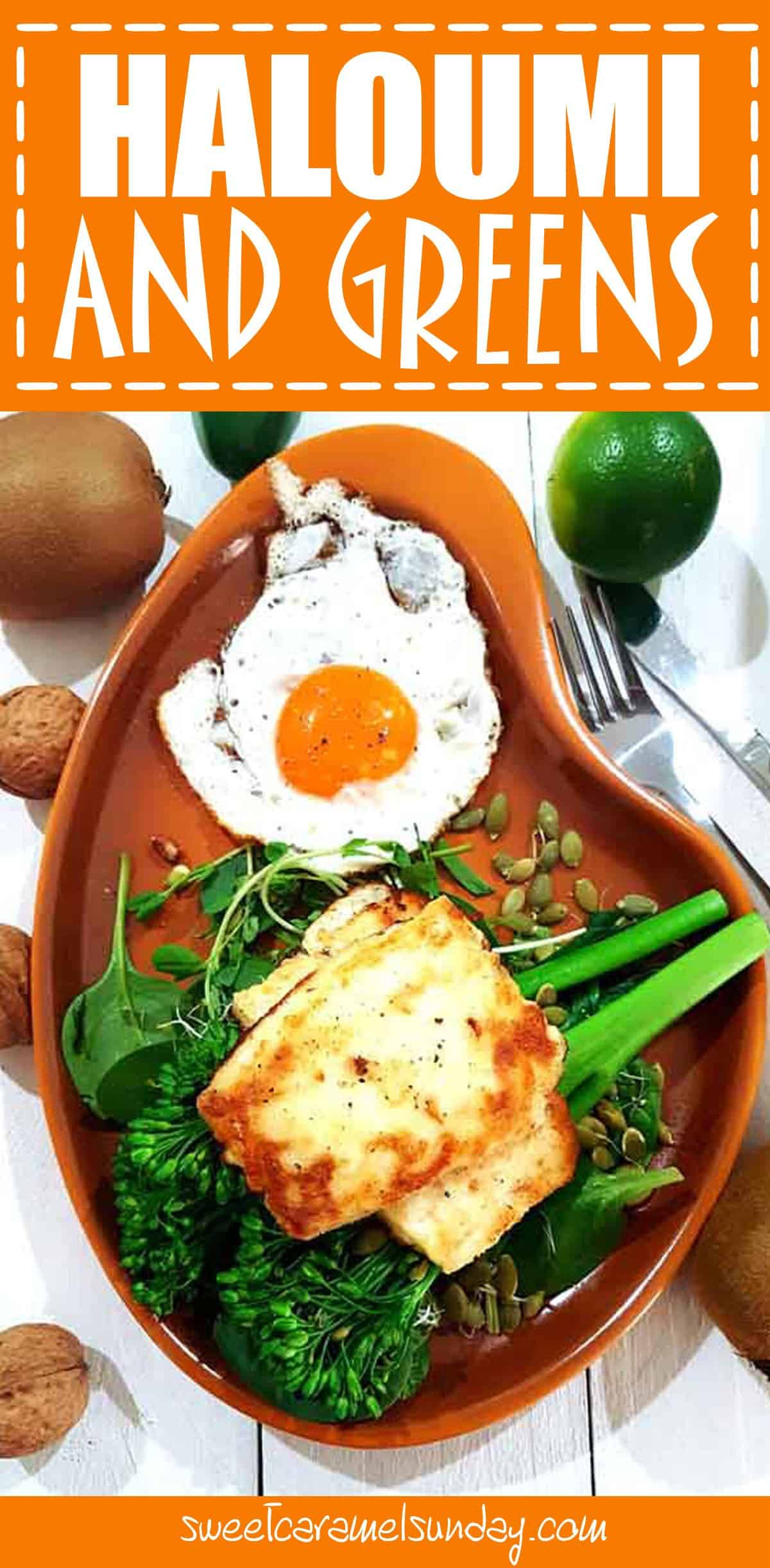 Haloumi and Greens with Fried Egg