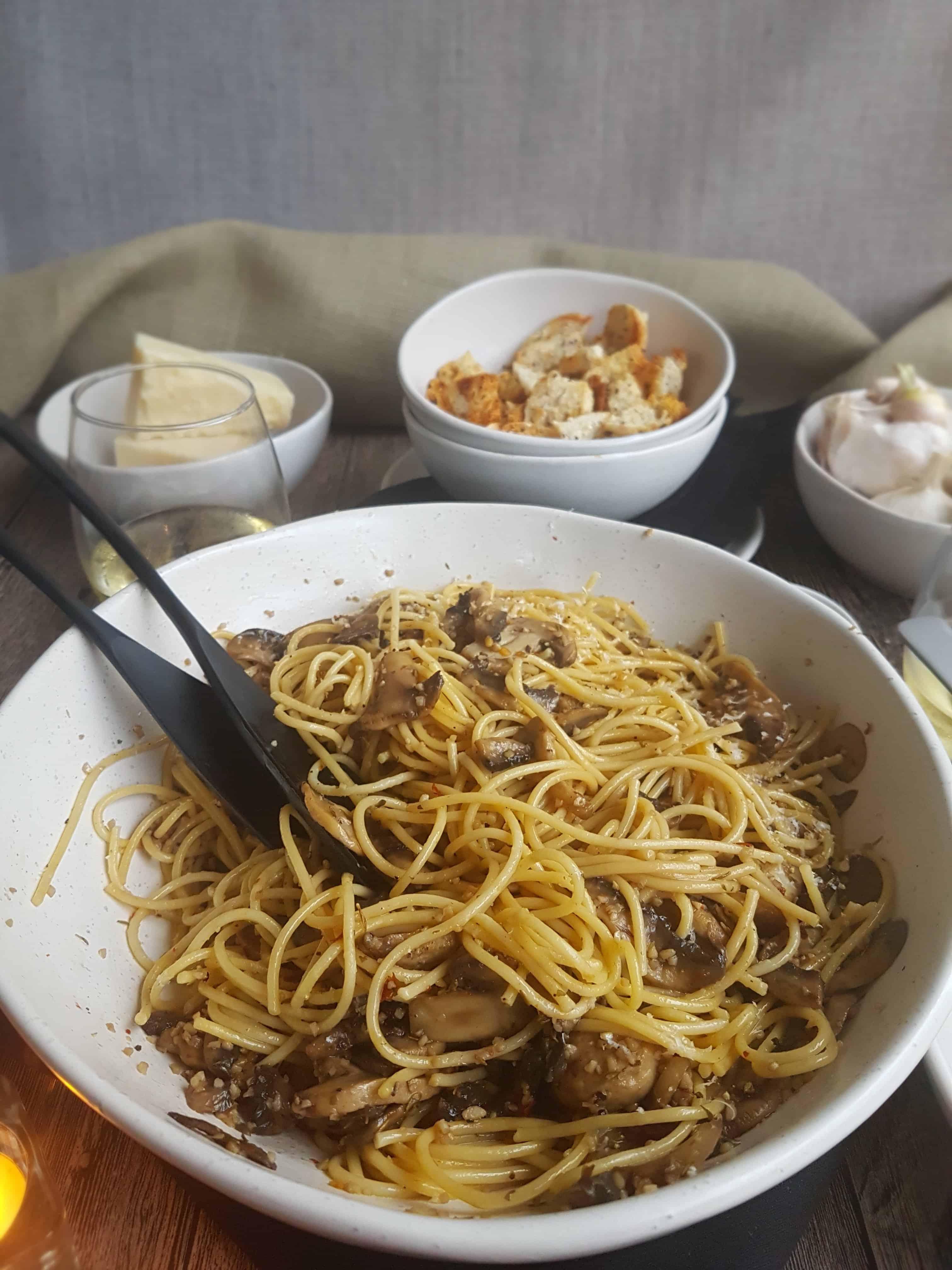 Mushroom Spaghetti Recipe 4