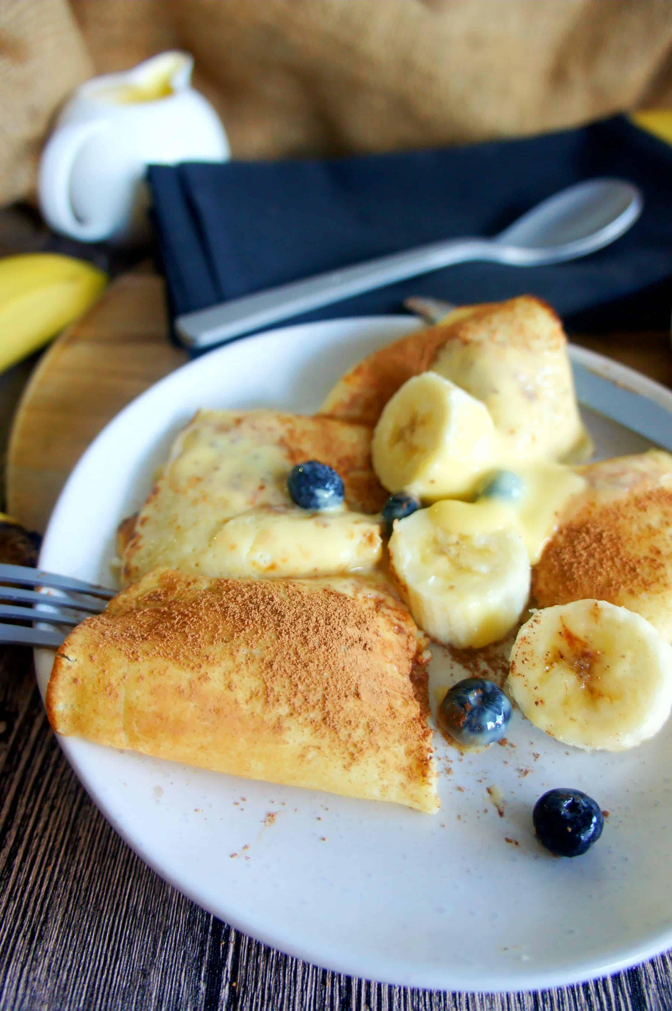 Blueberry and banana crepes 3 - Sweet Caramel Sunday