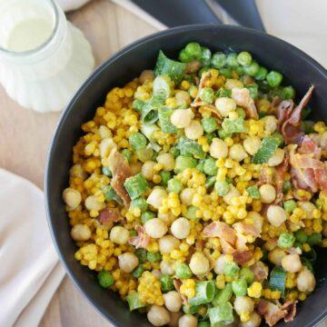 Turmeric Cous Cous Salad - Sweet Caramel Sunday