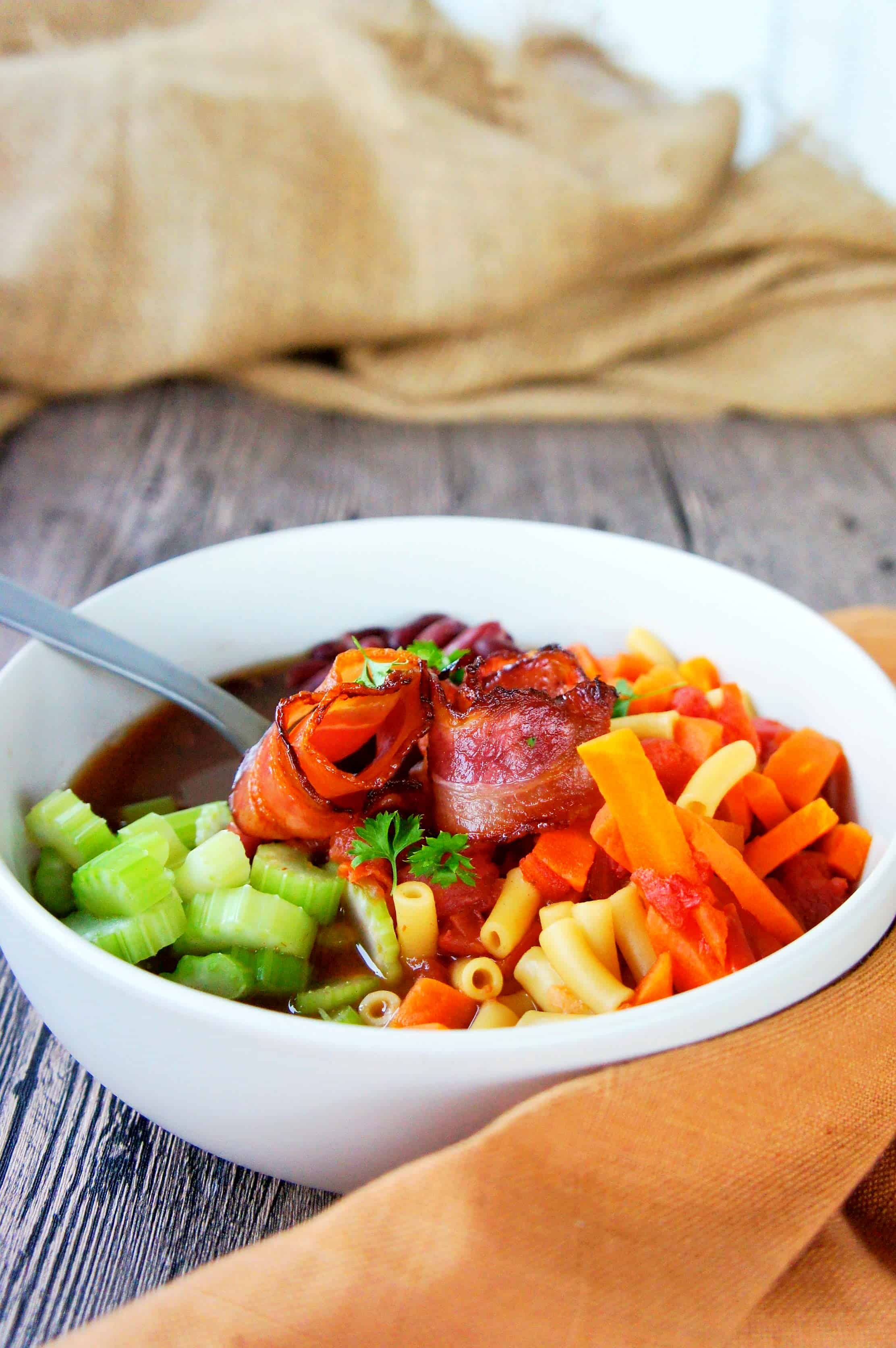 Sweet Caramel Sunday - Minestrone Soup Bowl