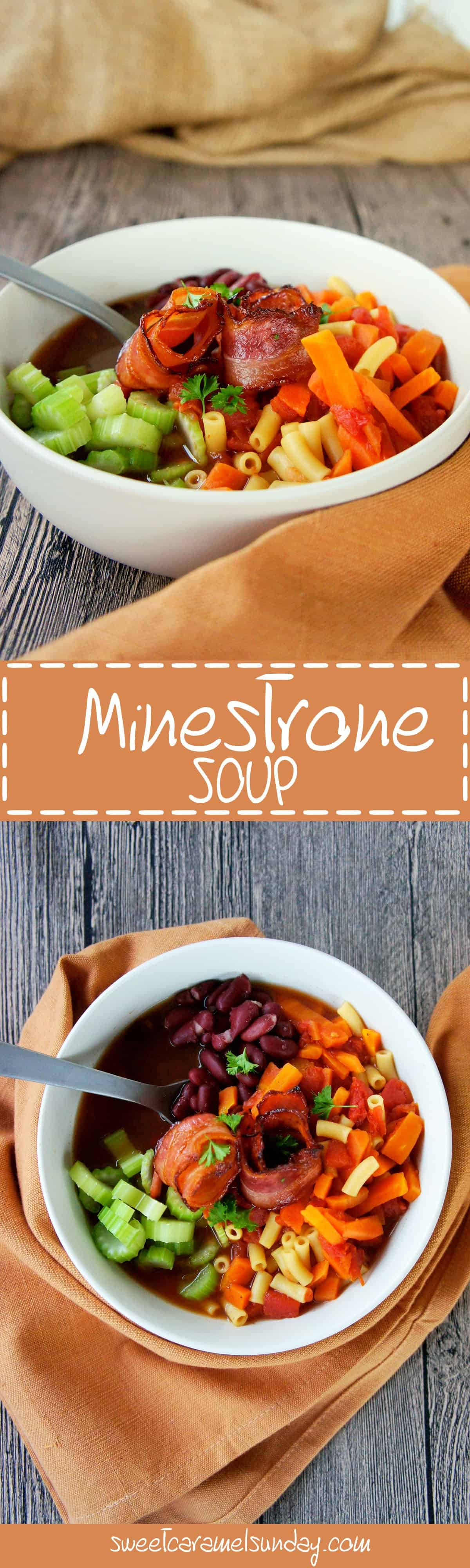 Sweet Caramel Sunday - Minestrone soup pin