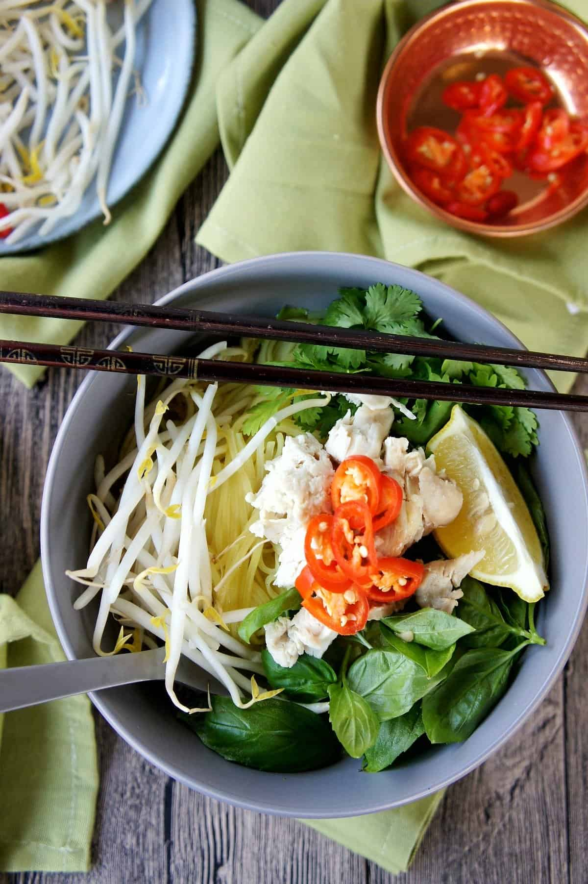 Asian Inspired Chicken Noodle Bowl 1