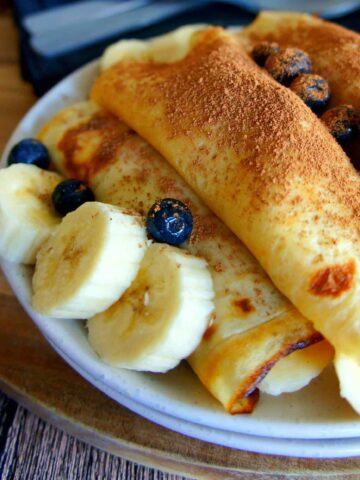 Blueberry and Banana Crepes | Sweet Caramel Sunday