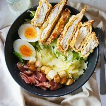 Crispy Chicken Caesar Salad | Sweet Caramel Sunday