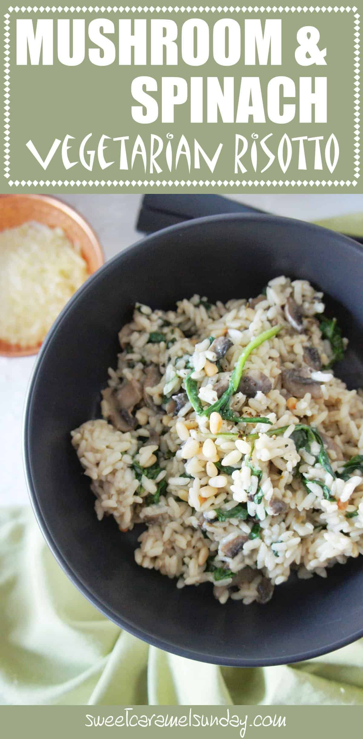 Mushroom and Spinach Risotto