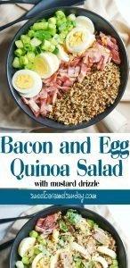 Bacon Quinoa Salad with text overlay