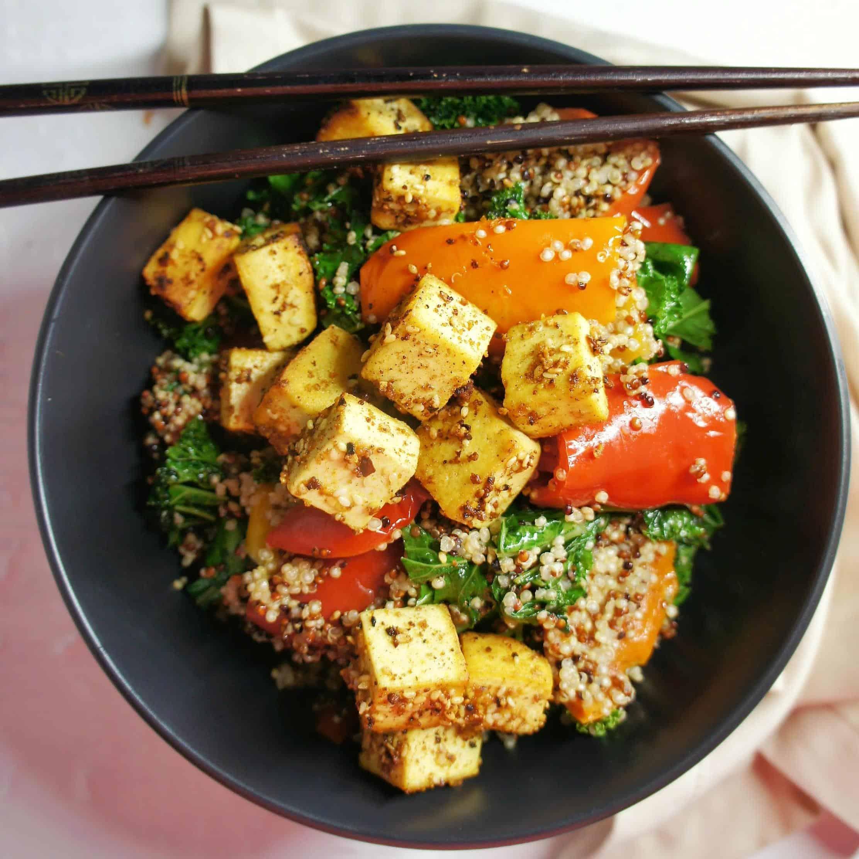 Dukkah Tofu Salad 5| Sweet Caramel Sunday