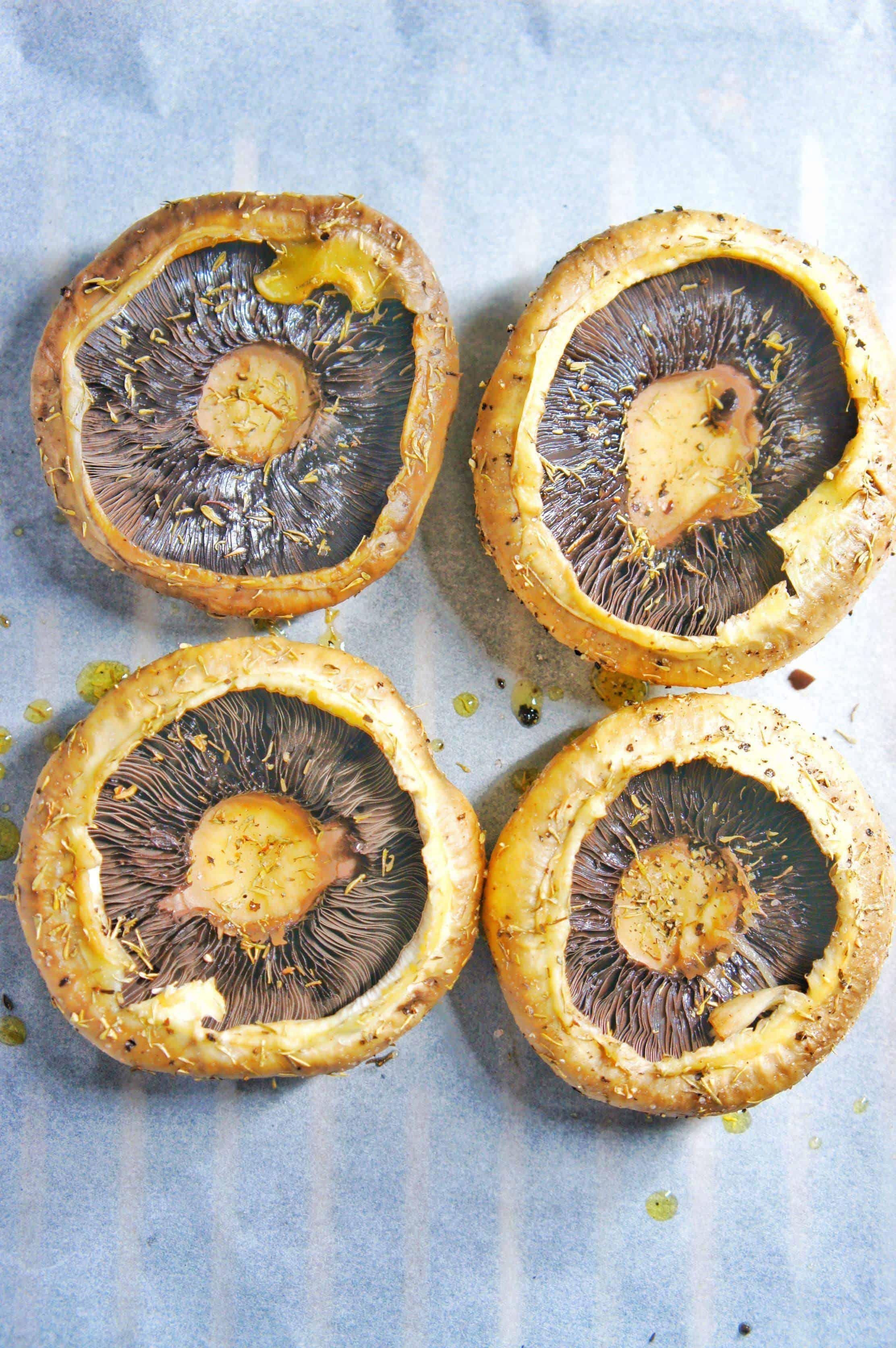 Baked Stuffed Flat Mushrooms 1 | Sweet Caramel Sunday