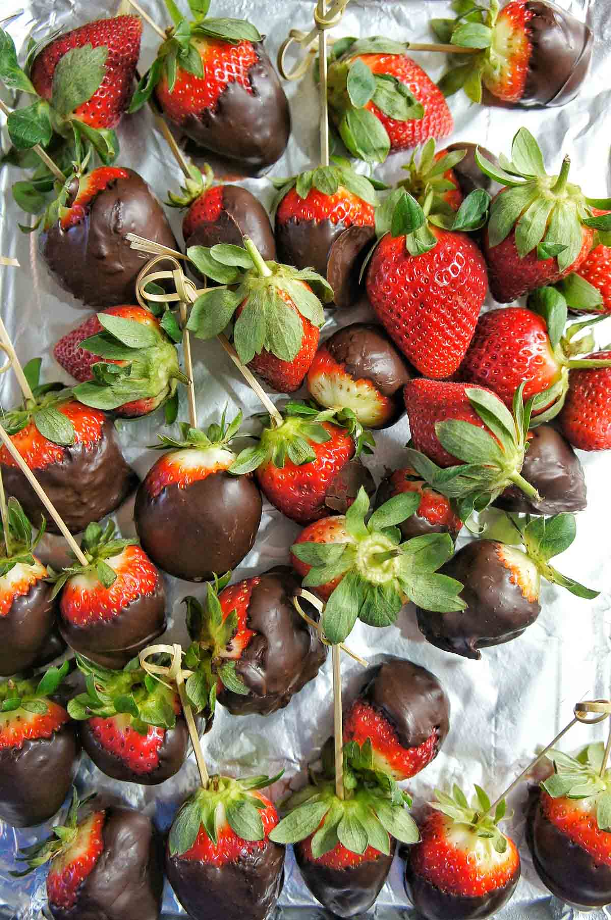 Chocolate Covered Strawberries Sweet Caramel Sunday