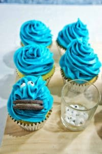 Cookie Monster Cupcakes 3 | Sweet Caramel Sunday