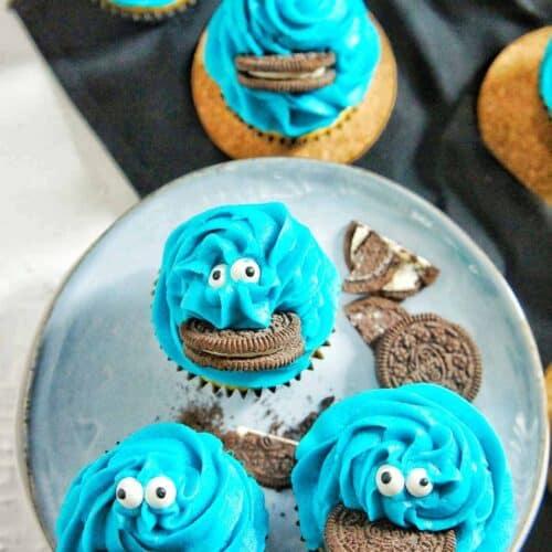 Cookie Monster Cupcakes 5   Sweet Caramel Sunday