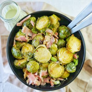 Roasted Brussel Sprout Salad | Sweet Caramel Sunday