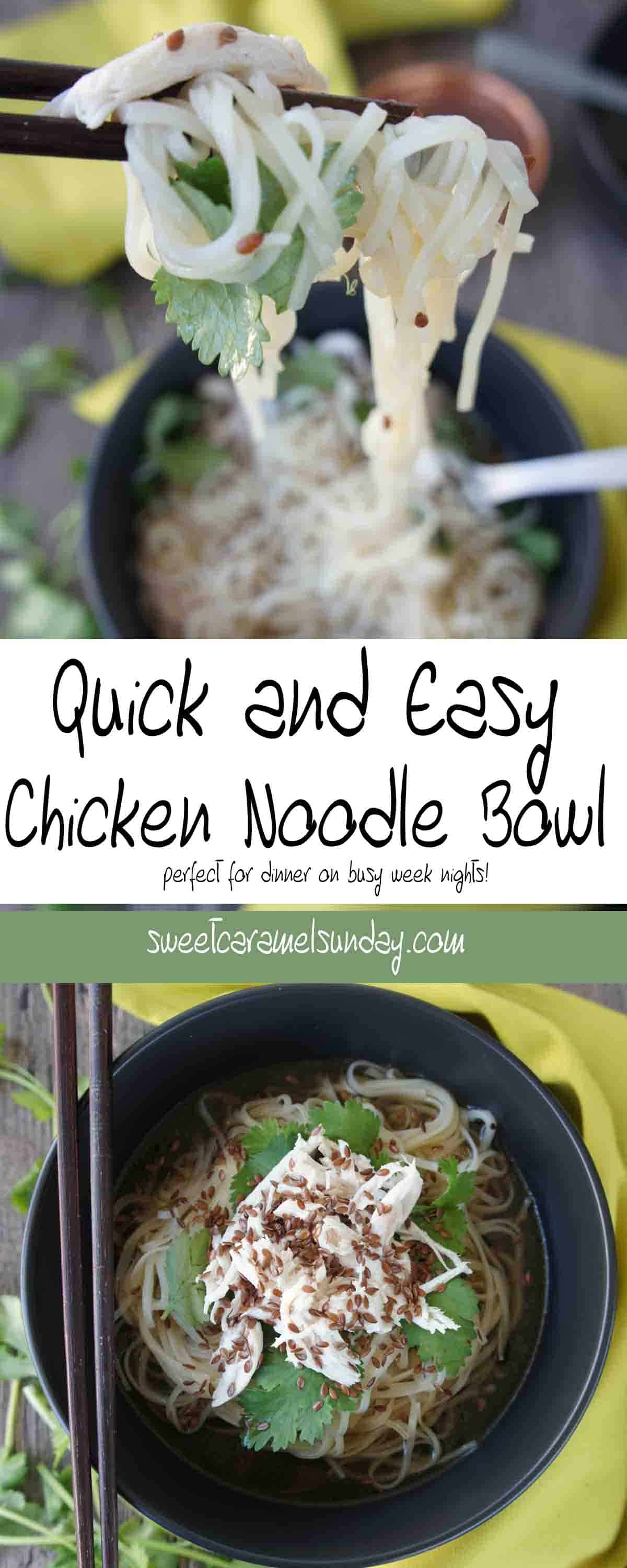 Quick and Easy Chicken Noodle Bowl   Sweet Caramel Sunday