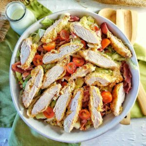 Crispy Chicken BLT Salad cropped feature image