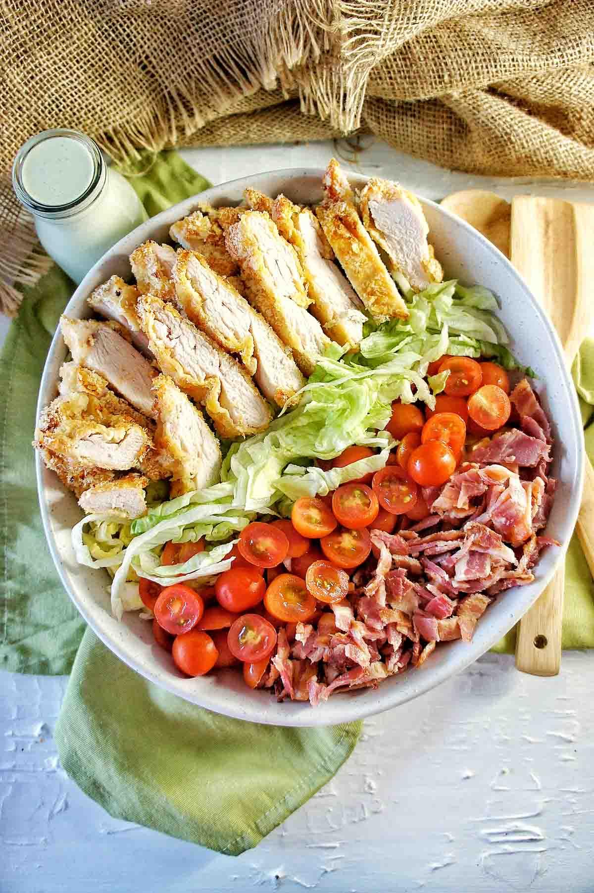 Crispy Chicken BLT Salad 2 | Sweet Caramel Sunday