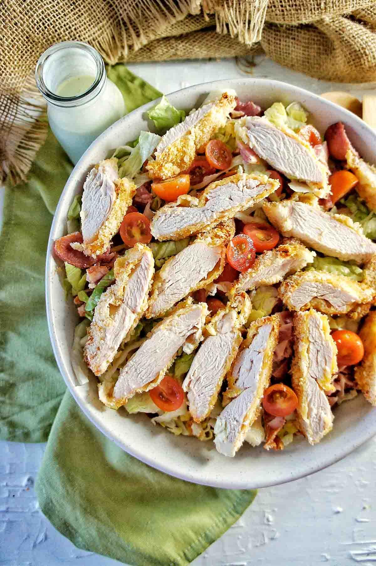 Crispy Chicken BLT Salad 5 | Sweet Caramel Sunday