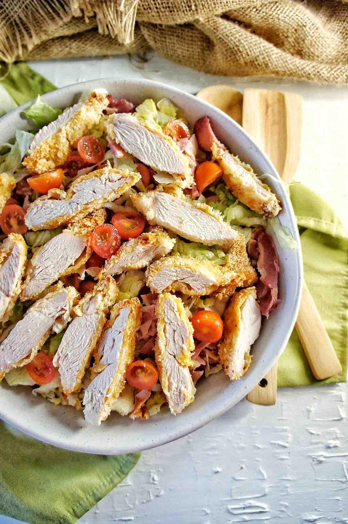 Crispy Chicken BLT Salad 6 | Sweet Caramel Sunday