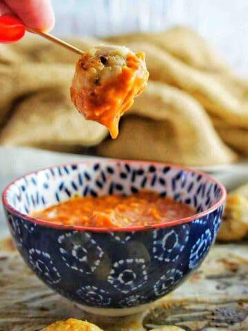 Baked Chicken Meatballs 9 | Sweet Caramel Sunday