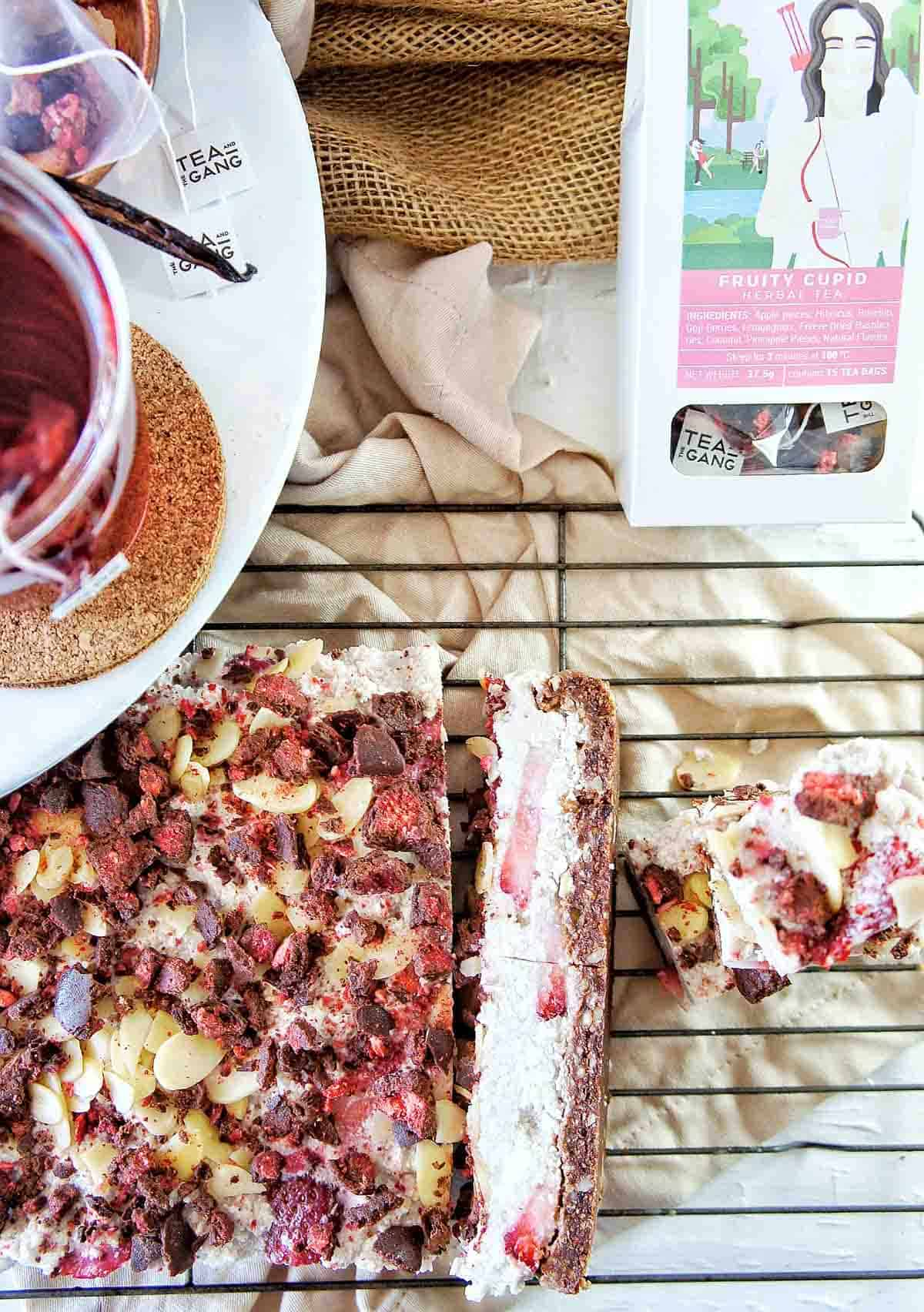 Choc Berry Slice 11 | Sweet Caramel Sunday