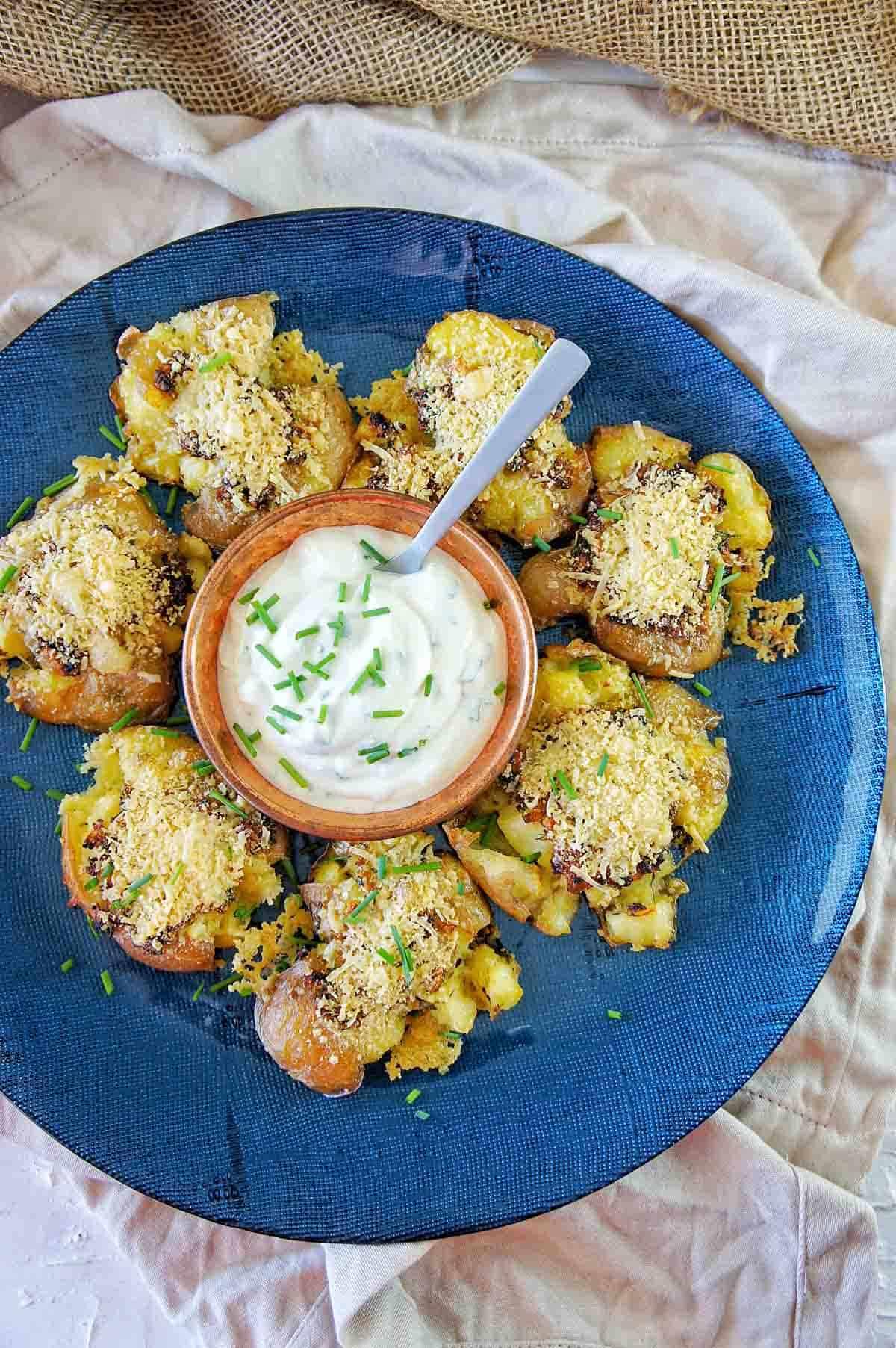 Crispy Smashed Potatoes 14 | Sweet Caramel Sunday