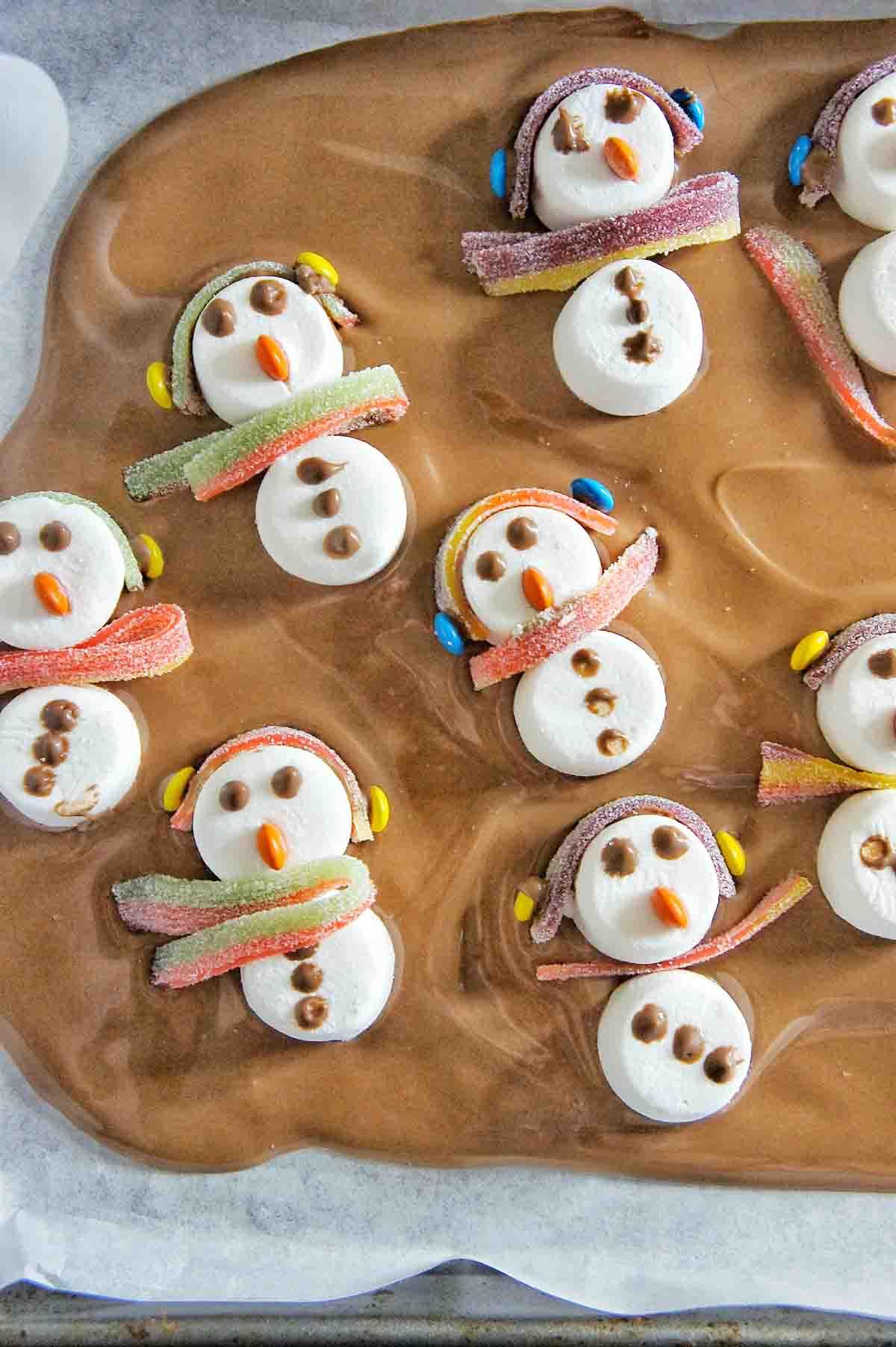 Snowman Chocolate Bark 8 | Sweet Caramel Sunday