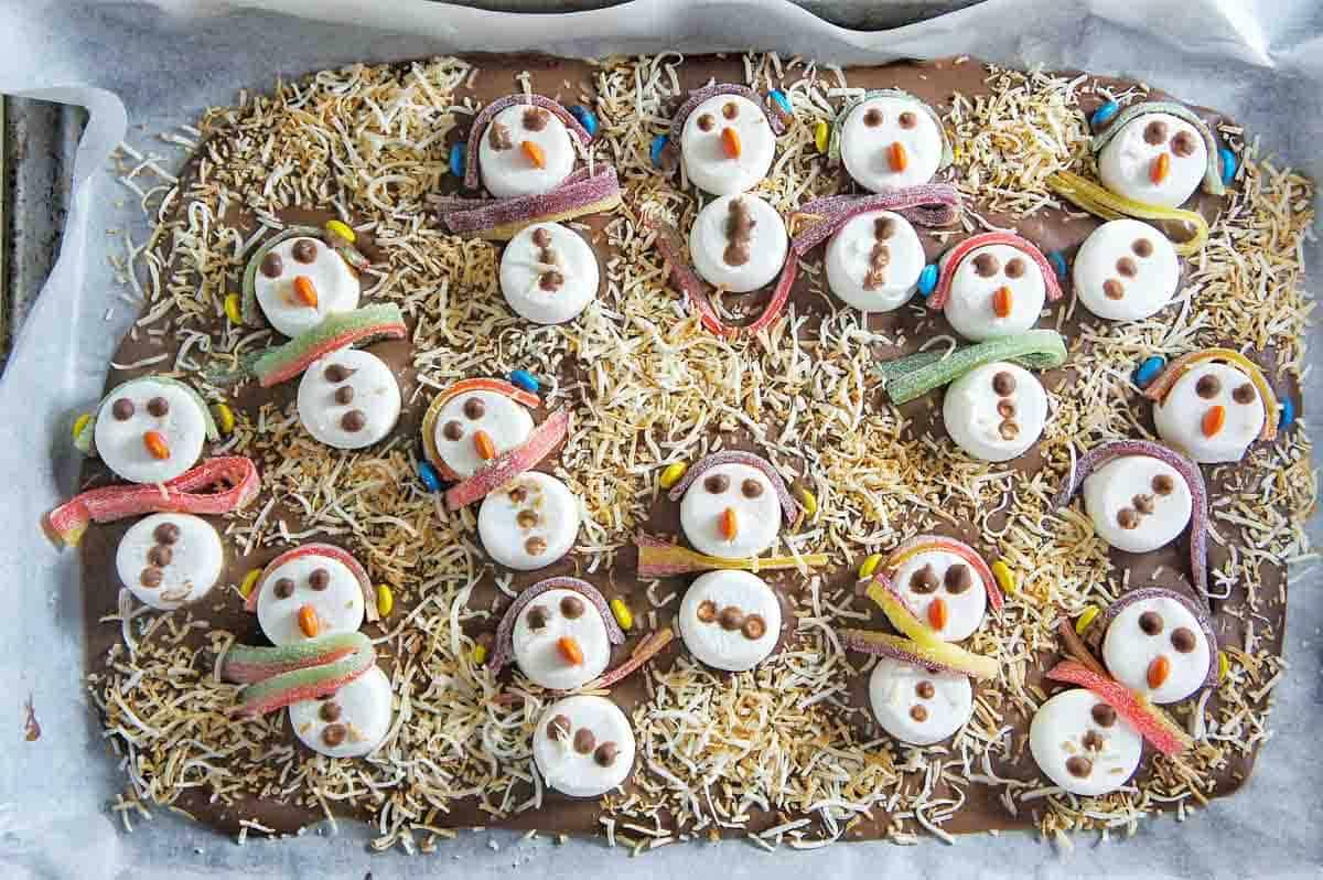 Snowman Chocolate Bark 17 | Sweet Caramel Sunday