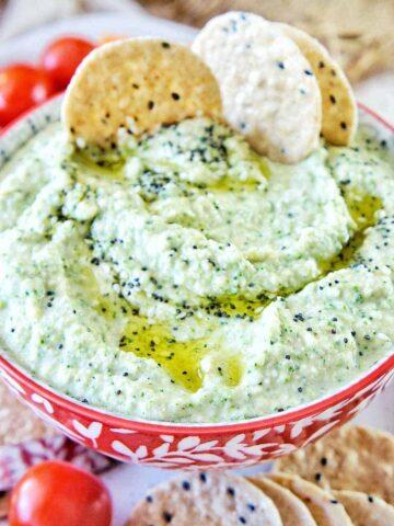Raw Broccoli Hummus 24 | Sweet Caramel Sunday