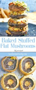 Baked Stuffed Flat Mushrooms Recipe
