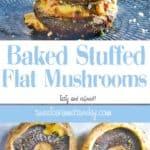 Baked Stuffed Flat Mushrooms Recipe