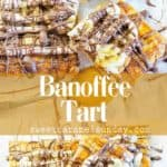 Banoffee Tart with text overlay
