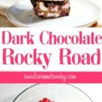 Dark Chocolate Rocky Road with text overlay