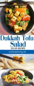 Dukkah Tofu Salad image with text overlay