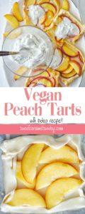 Vegan Peach Tarts Recipe