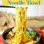 Vegan Yellow Curry Noodle Bowl