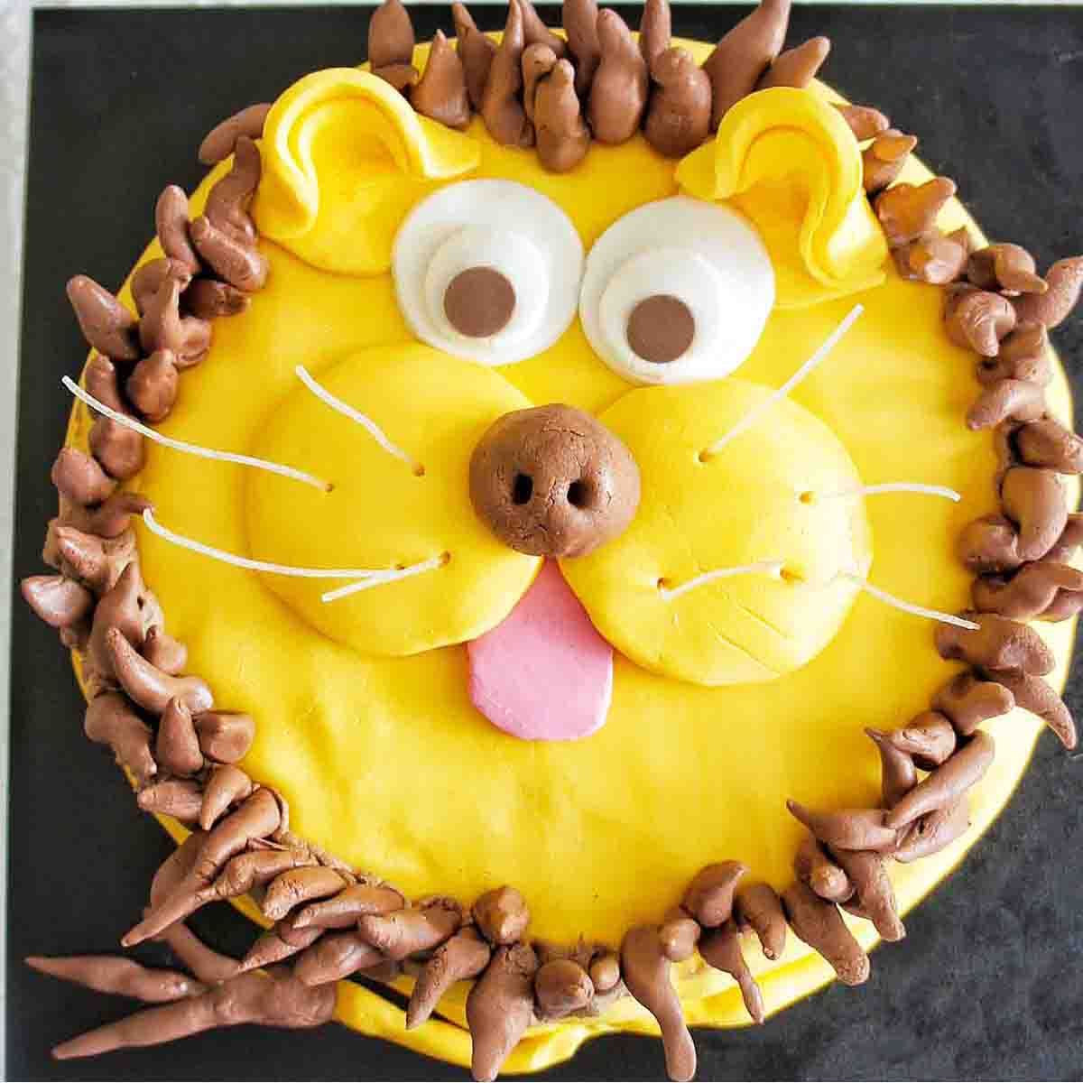 Sensational Lion Cake Recipe Video Sweet Caramel Sunday Personalised Birthday Cards Paralily Jamesorg