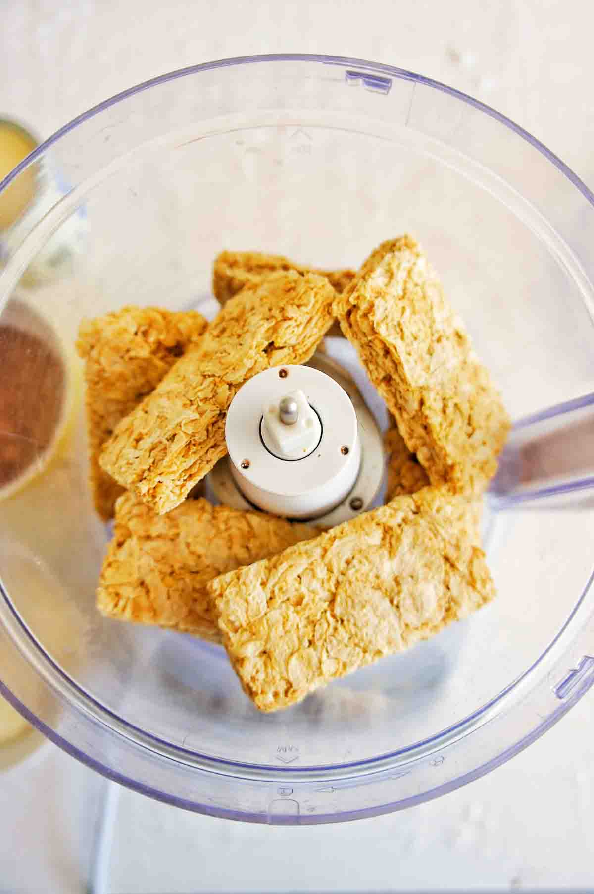 Weet Bix in a food processor