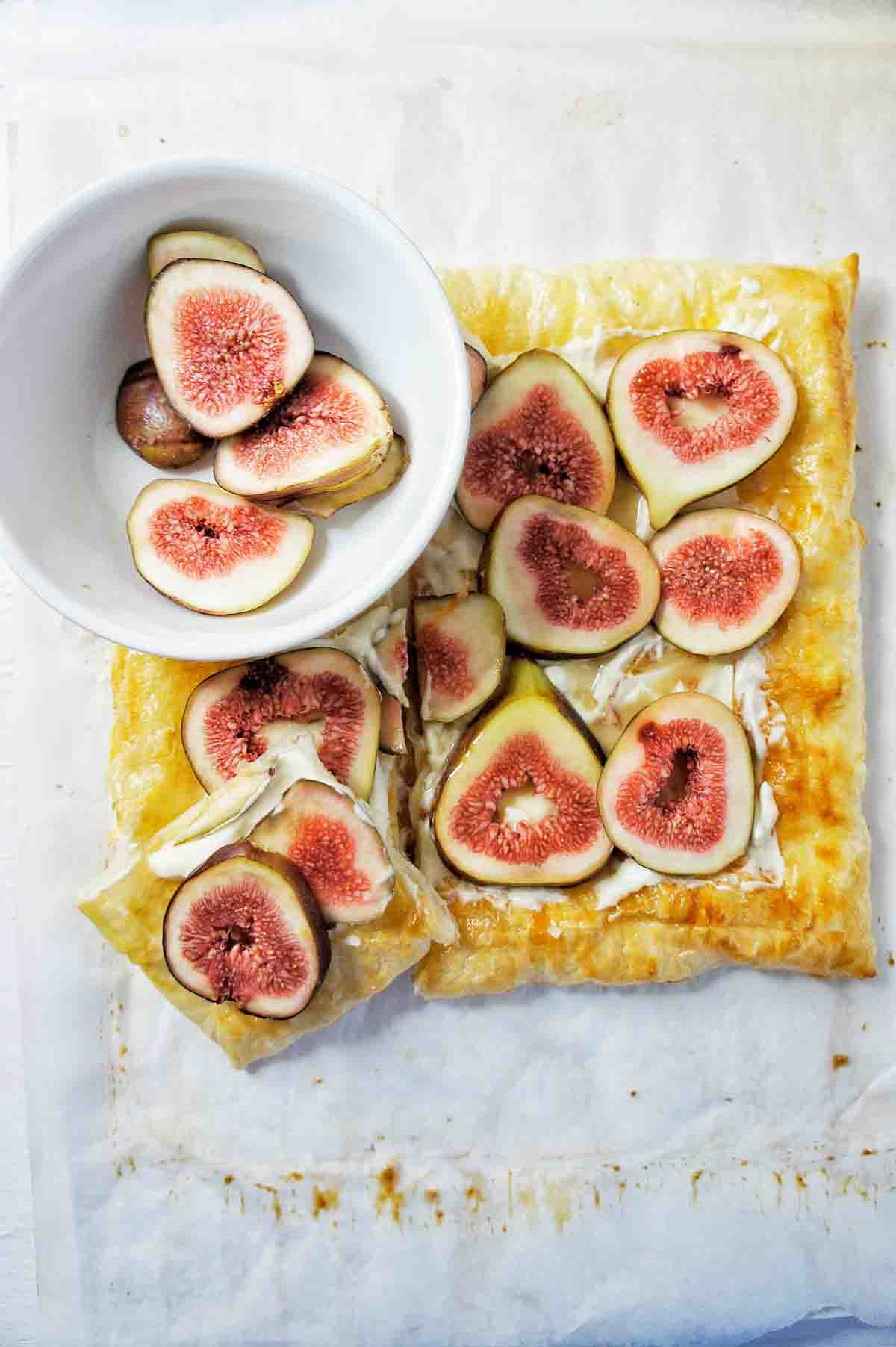 Fig Tart on a white background