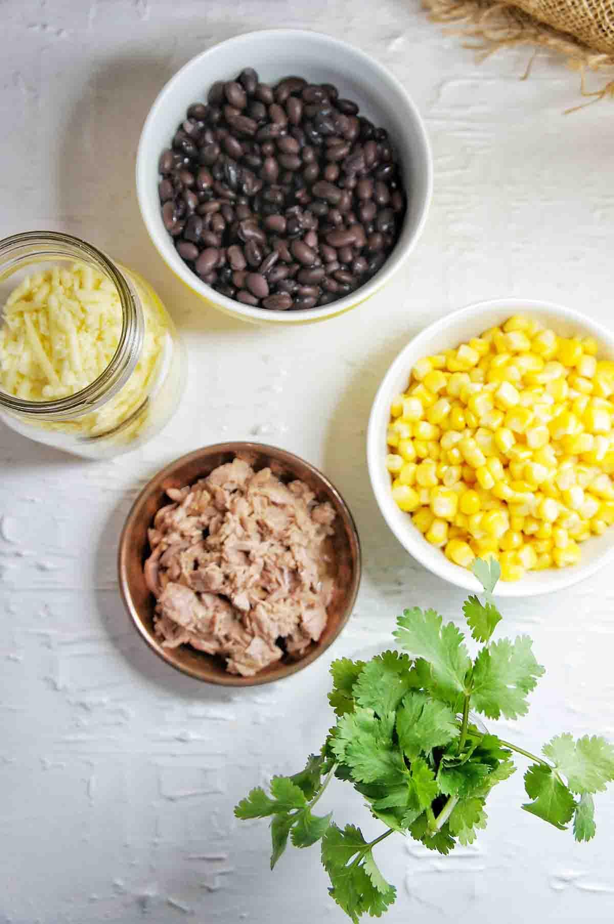 Ingredients for Fiesta Tuna Pasta Bake Recipe
