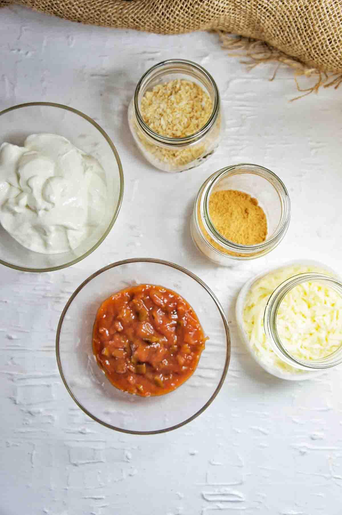 Ingredients for Fiesta Tuna Pasta Bake Sauce