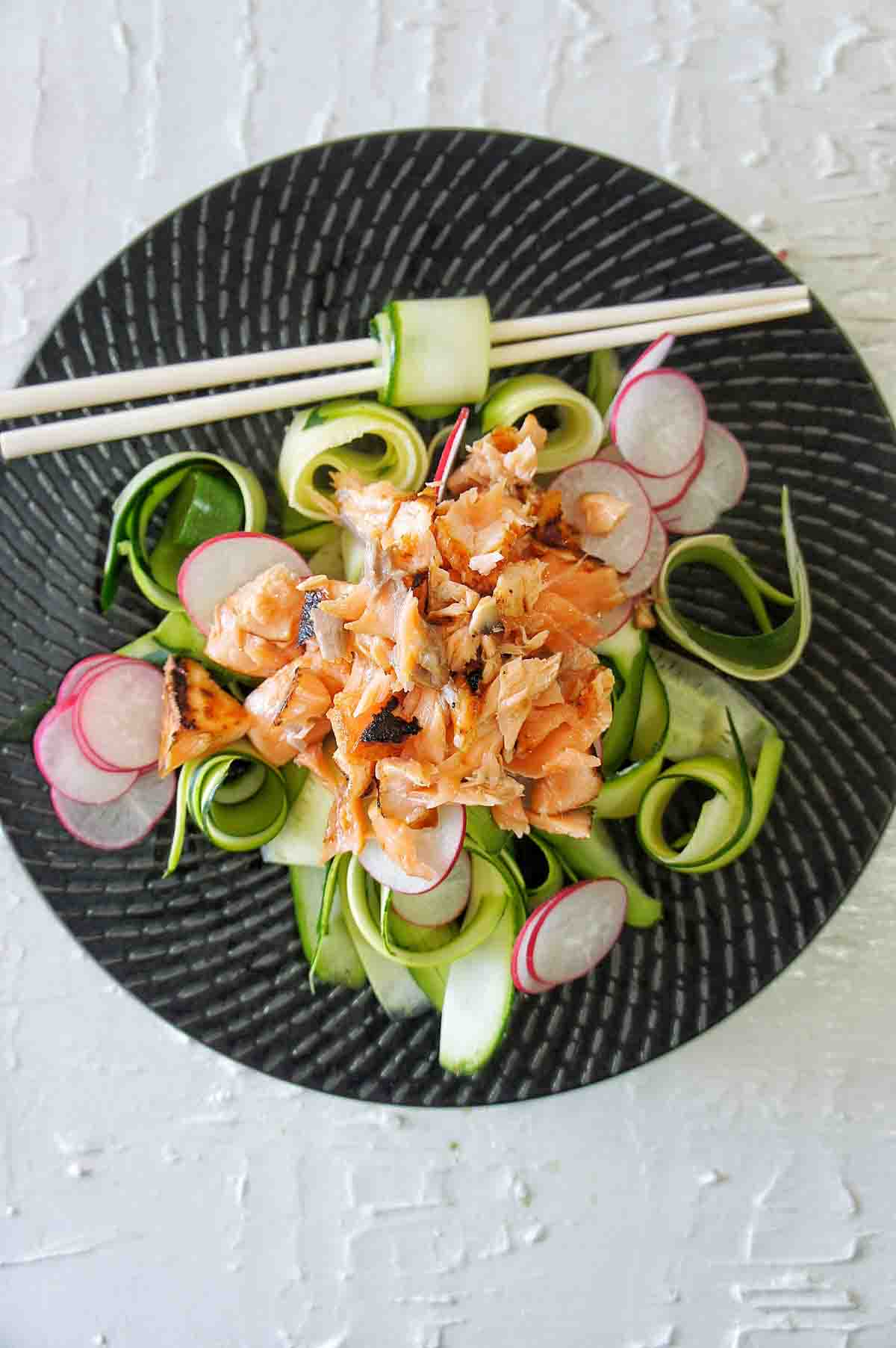 Salmon Zucchini Salad Recipe process shot 3