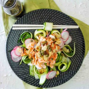 Salmon Zucchini Salad plated