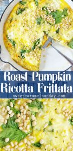 Pumpkin Frittata images with text overlay