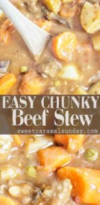 Easy Chunky Beef Stew with text overlay