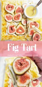 Fig Tart with text overlay