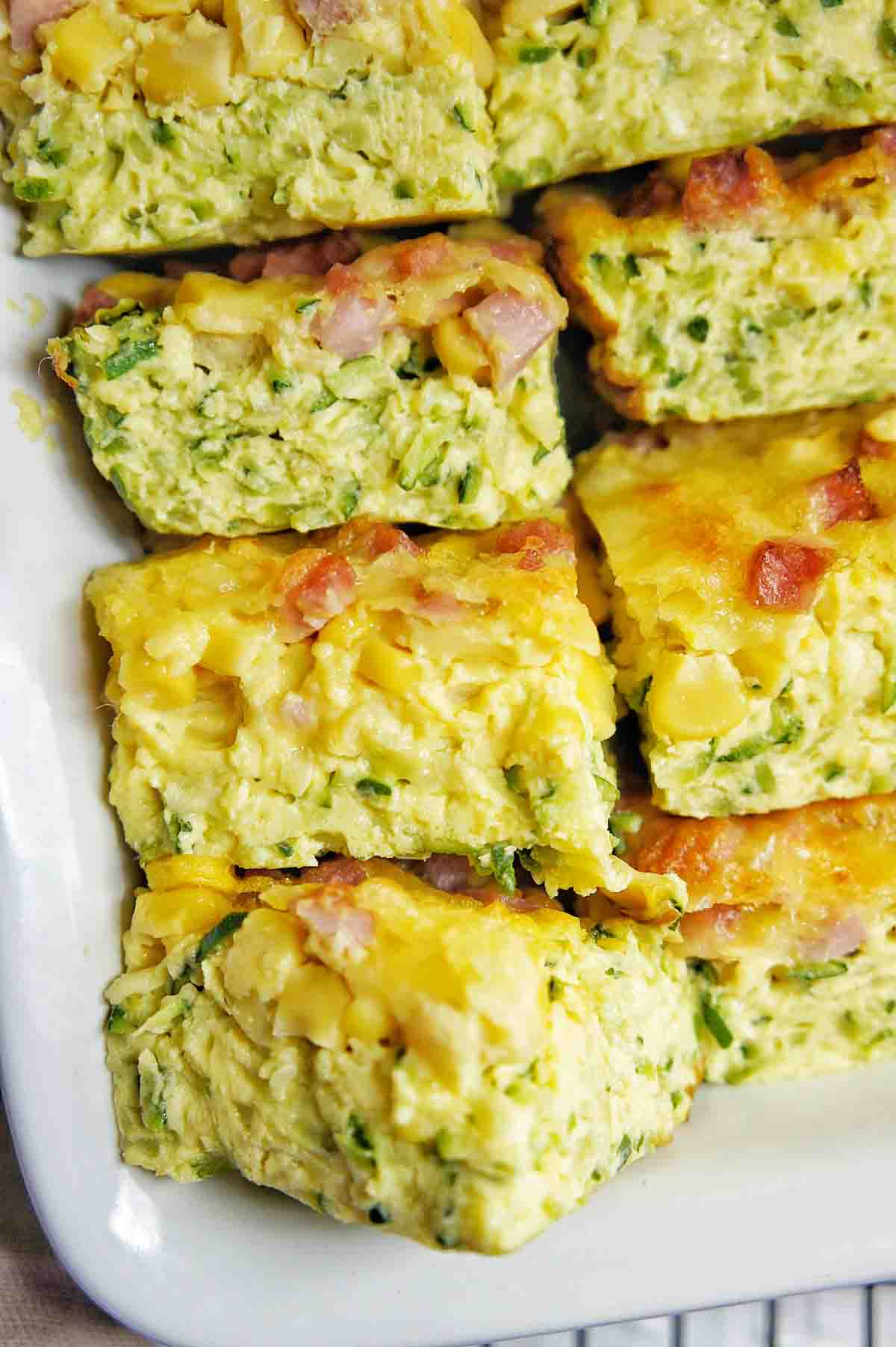 Zucchini slice gluten free cut pieces