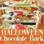 Halloween Bark with text overlay