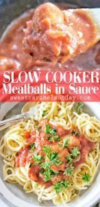 Meatballs in sauce with text overlay