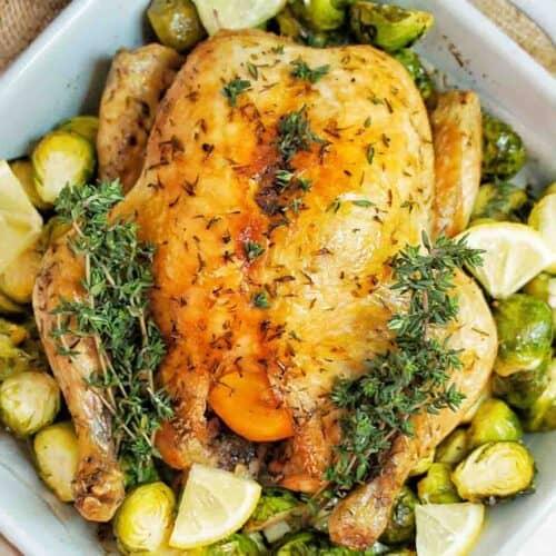 Slow Cooker Lemon Garlic Chicken cropped image