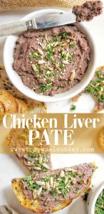 Chicken Liver Pate with text overlay